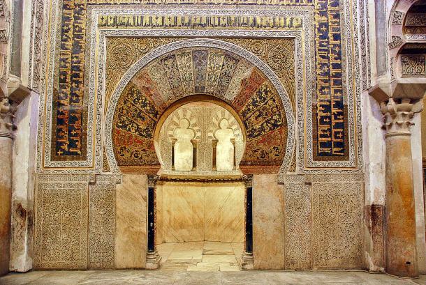 Mihrab de la Mezquita de Córdoba (España). Fuente: Wiki Commons