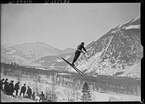 Prueba de Combinada Noruega en Chamonix 1924. PD.