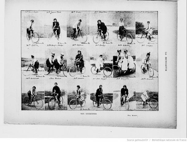 Mujeres ciclistas en competeción (Wikipedia DP)