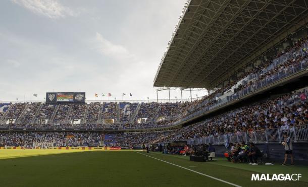 La Rosaleda vivirá un partidazo con un gran ambiente | Foto: Málaga CF