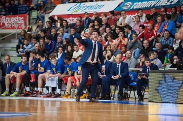 Katsikaris en un partido en Murcia | Foto: UCAM Murcia
