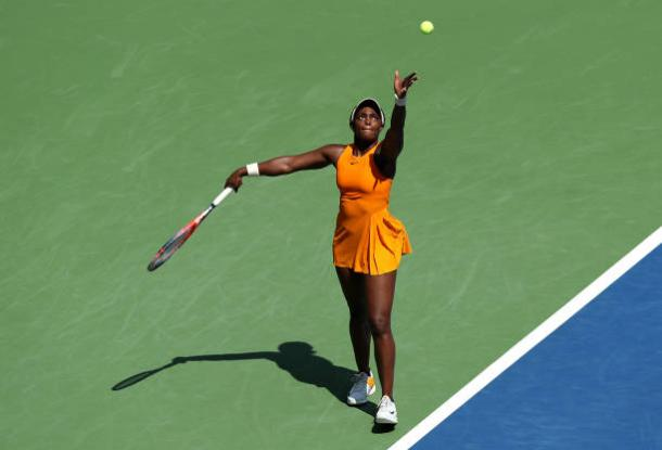 Stephens in action during her tough second round win (Getty Images/Elsa)