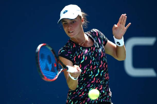 Kalinina fought valiantly, but did not have enough to match Stephens in the end (Getty Images/Julian Finney)
