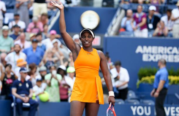 Stephens celebrates her second round win over Anhelina Kalinina (Getty Images/Jean Catuffe)