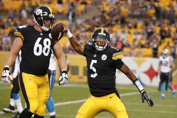 Joshua Dobbs performance against the Panthers earned him the backup job | Source: Justin K. Aller-Getty Images