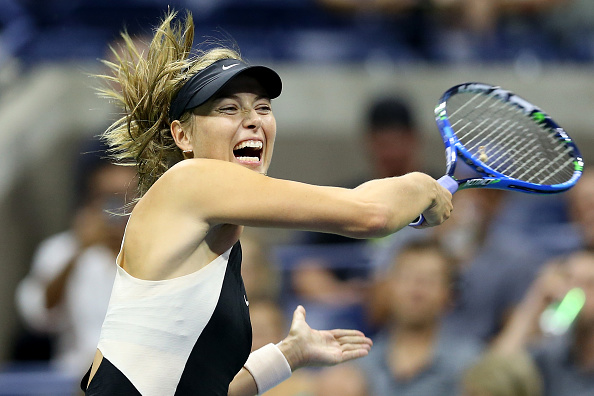 Maria Sharapova in action during her second round match at the US Open. Photo: Getty Images/Alex Pantling
