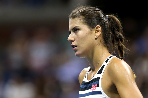 Sorana Cirstea in action during her second round match at the US Open. Photo: Getty Images/Alex Pantling