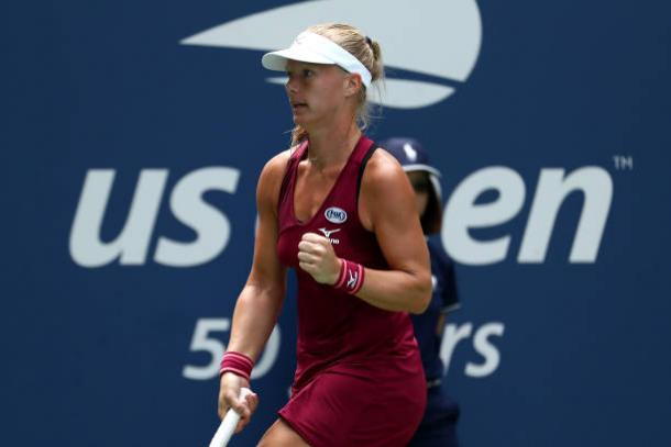 Kiki Bertens had some good opportunities to reach the fourth round, though fell just short (Getty Images/Al Bello)