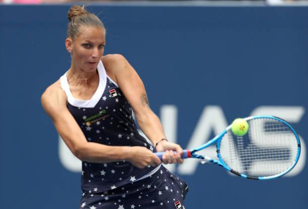 Pliskova was not broken once in today's match as she progressed in straight sets (Getty Images/Matthew Stockman)