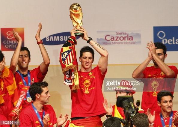 Fernando Torres en la celebración del Mundial en Madrid l Foto: Getty