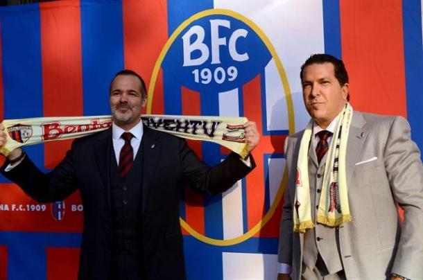 Joe Taccopina (esquerda) presidiou o Bologna por uma temporada | Foto: Divulgação Bologna
