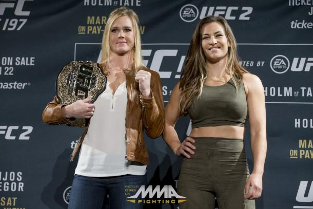 Holly Holm and Miesha Tate | Photo: mmamania