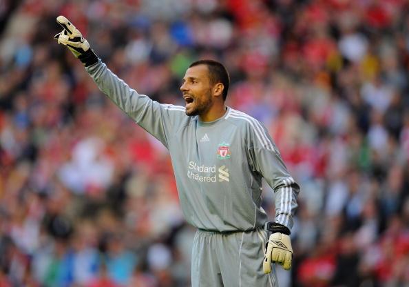 Cavalieri atuou no Liverpool entre 2008 e 2010 (Foto: Clive Mason/Getty Images)