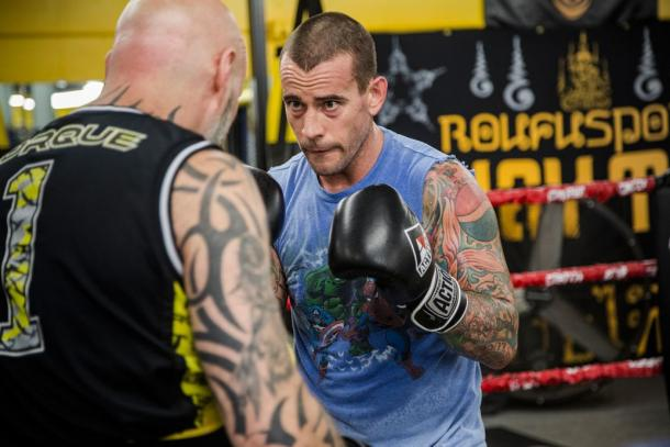 Punk training ahead of his UFC debut | Photo: thebrainosaur.com