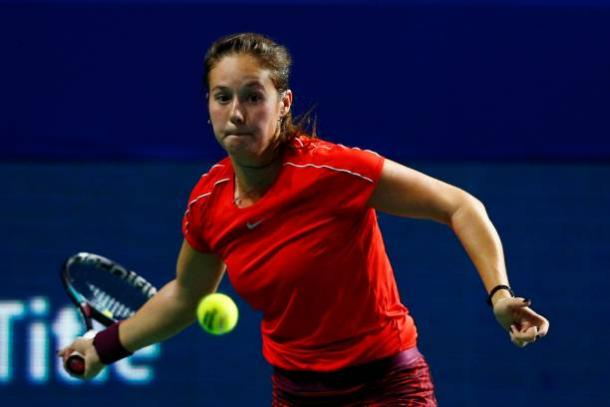 Daria Kasatkina was struggling to handle the power in the first half of the match | Photo: Getty Images / Anadolu Agency
