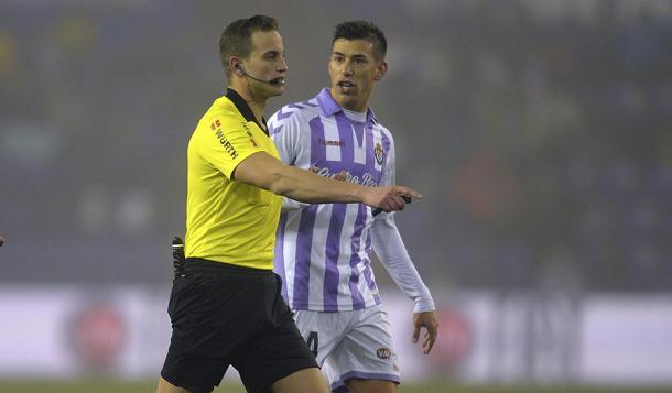 Alberola Rojas dirigió el encuentro ante el Getafe en Zorrilla de Copa   Real Valladolid