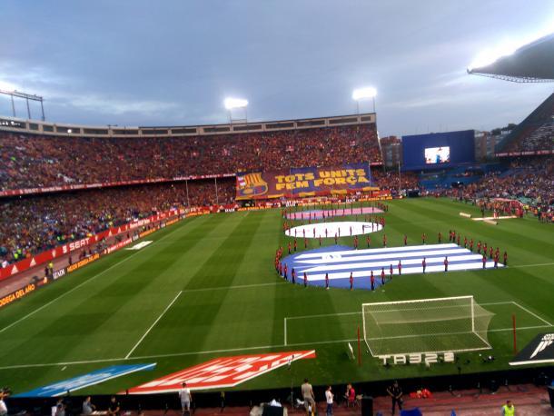 Ceremonia inicial de la Final de Copa en el Estadio Vicente Calderón. Fuente: Iñaki Jiménez