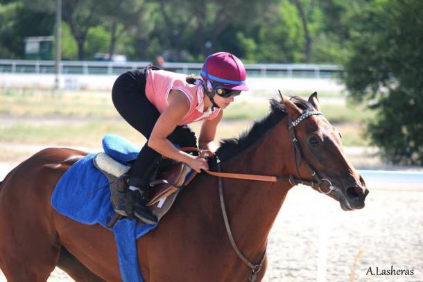 Claudine Cazalis entrenando en La Zarzuela | Foto: A. Lasheras / Claudine Cazalis
