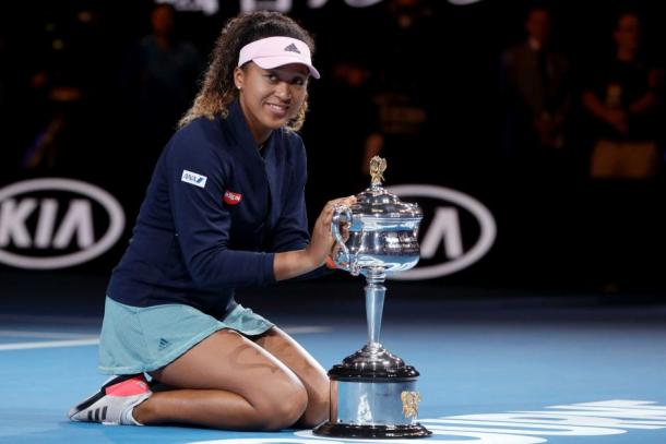 World number one at the time, the Japanese star claimed her second consecutive major title in Melbourne last year/Photo: Mark Schiefelbein