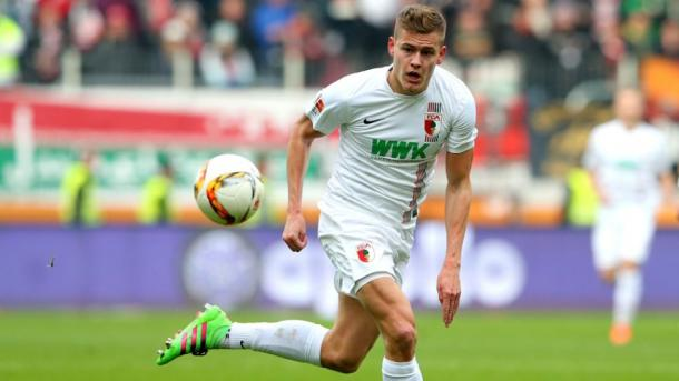 Alfred Finnbogason joined FC Augsburg on a short term loan in the January market. | Source Bundesliga