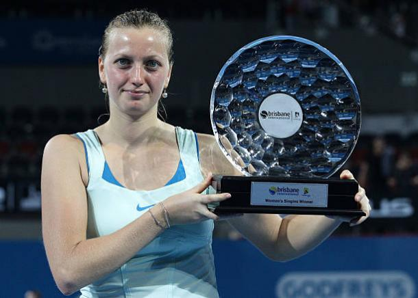 Petra Kvitova was the Brisbane champion back in 2011 (Getty/Bradley Kanaris)