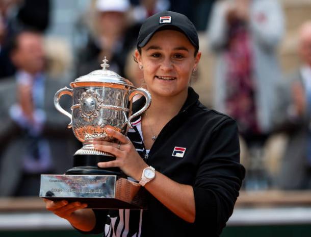 Barty, 2019 French Open women's singles winner. Photo: TPN