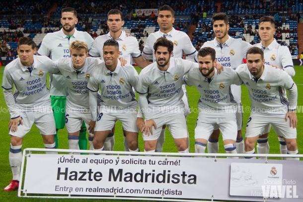 Once del Real Madrid ante la Cultural Leonesa. | FOTO: Daniel Nieto - VAVEL