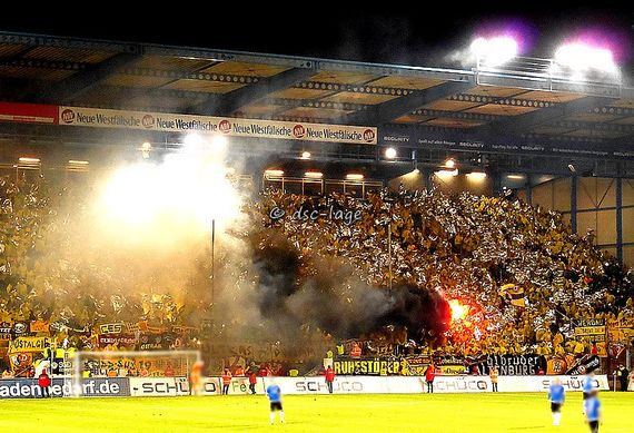 Scenes following Dynamo Dresden's relegation to 3. Liga | Photo: faszination-fankurve.de