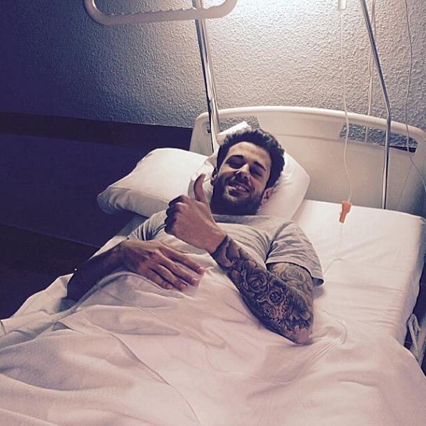 Jon García, en el hospital | FOTO: Instagram