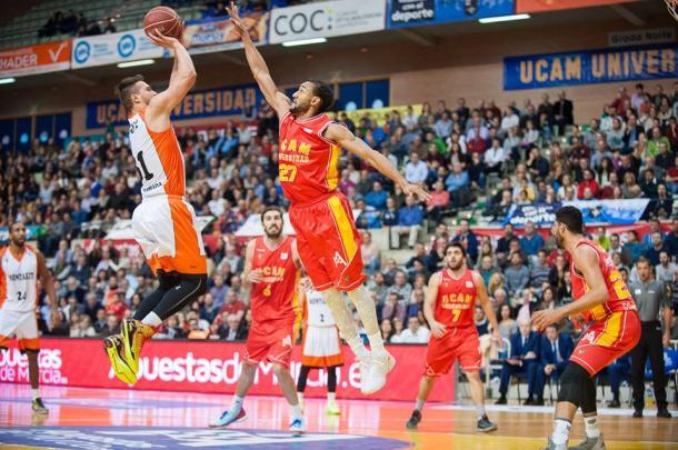 Sadiel Rojas ante Montakit Fuenlabrada | Foto: UCAM Murcia