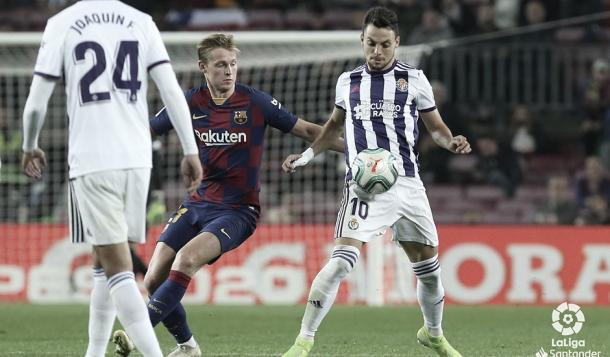El Valladolid no se lo pondrá nada fácil al Barcelona en el José Zorrilla. | Foto: La Liga Santander