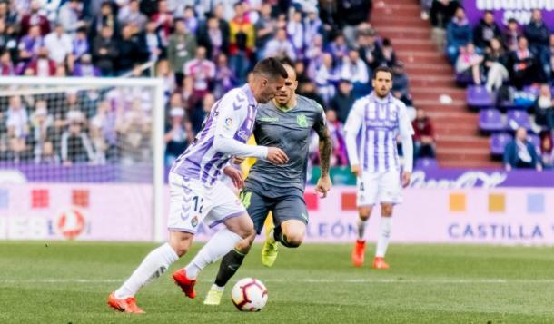 La temporada pasada se vieron las caras Sandro y Guardiola en diferentes equipos | Real Valladolid