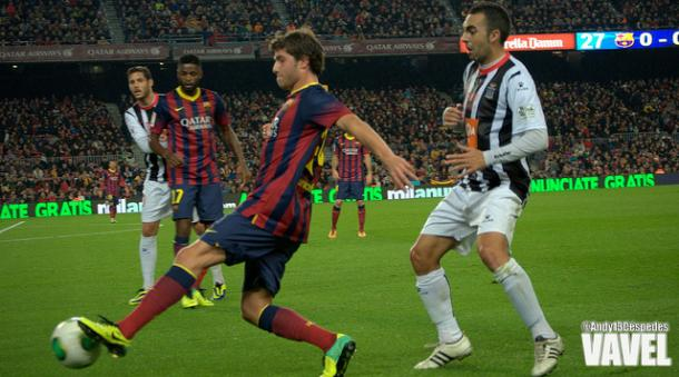 Sergi Roberto en un partido de Copa del Rey I Fuente: Andy13Cespedes