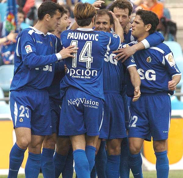 El Getafe CF en su visita en 2005 a Mendizorroza // Fuente: Getafe CF