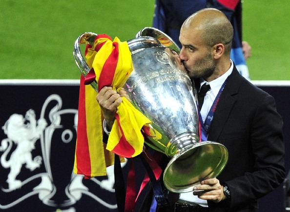 Guardiola won the Champions League twice with Barcelona (photo:getty)