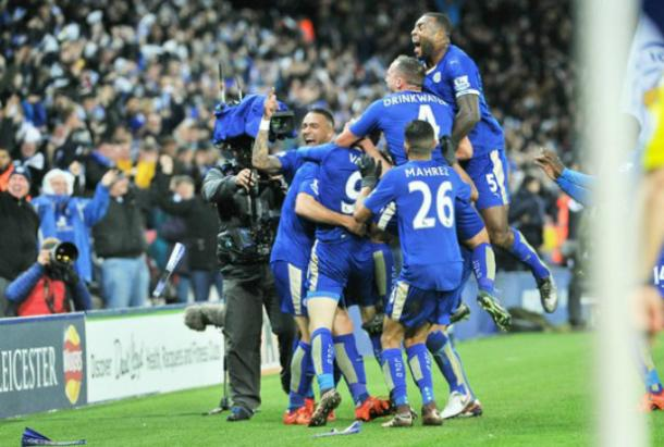 El vestuario del Leicester, un grupo de amigos. Foto: Leicester Mercury