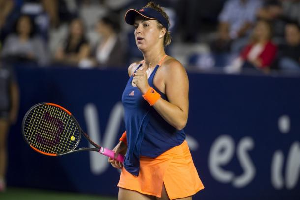 Anastasia Pavlyuchenkova celebrates winning a point | Photo: Abierto Monterrey