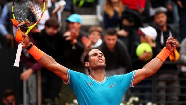 Festejo y noveno trofeo en Roma. Imagen-ATP