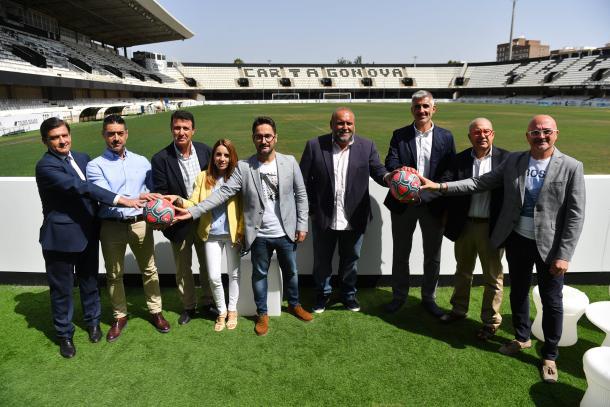 Presentación del nuevo organirgrama del F.C Cartagena. Fuente: FC Cartagena