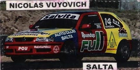Volkswagen Gol Clase 2 de Turismo Nacional de Nicolas Vuyovich. Foto: Archivo.