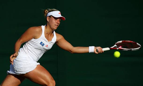 Kerber during her first round loss at Wimbledon in 2011 (Getty/Clive Brunskill)