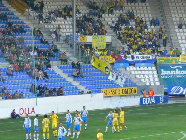 Partido Deportivo Alavés-Cádiz, en Segunda División, temporada 2006-07. Fuente: glorioso.net