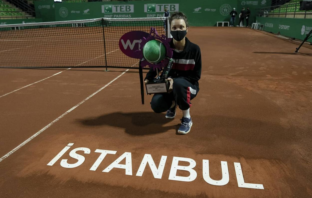 Tig sealed her maiden career title in Istanbul. Photo: Tennis Championship Istanbul