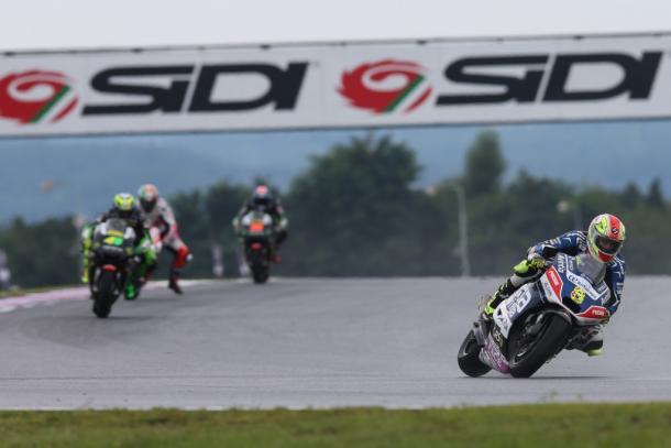Soft tyres paid of in initial stages of wet race at Brno for Barbera - www.avintiaracing.com