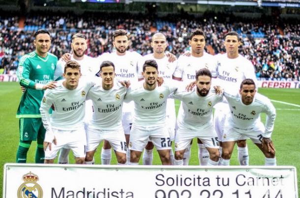 11 Inicial del Real Madrid. Vía: VAVEL