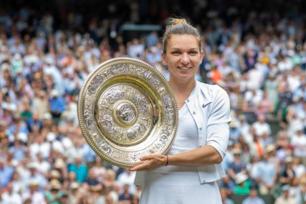 Halep, 2019 Wimbledon Championships ladies' singles winner. Photo: Tim Clayton