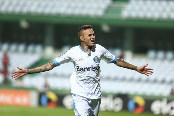 Luan marcou o segundo gol gremista (Foto: Divulgação/Grêmio)