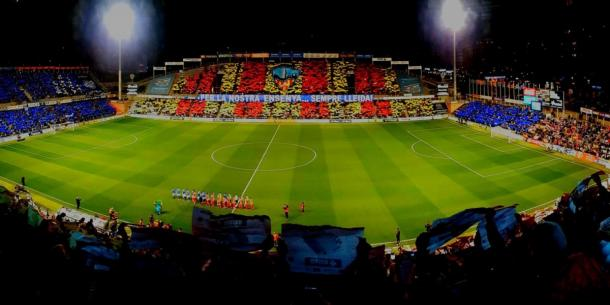 Espectacular mural realizado ante el Atlético de Madrid | Foto: NacióDigital