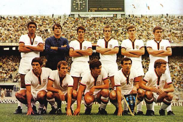Elenco do Cagliari campeão da Serie A 1969/70 | Foto: Divulgação/Cagliari