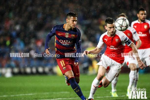 Neymar en el partido de vuelta de octavos I Foto: Alex Gallardo (VAVEL)